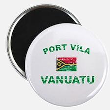 Port Vila Vanuata Designs Magnet