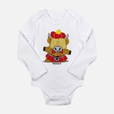Highland Cow Red Kilt Onesie Romper Suit
