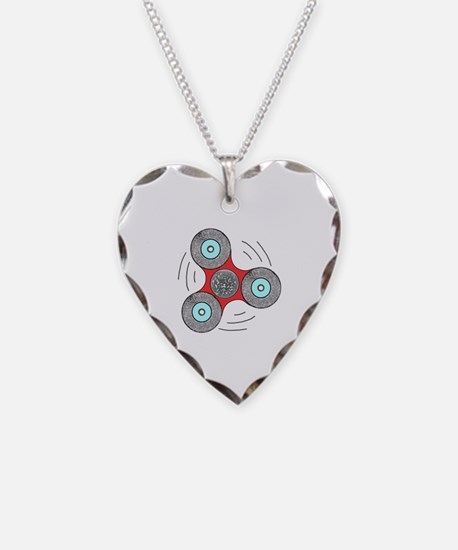 Cute Relief Necklace Heart Charm