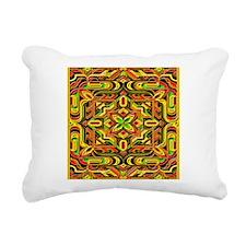 Colorful Mazes Rectangular Canvas Pillow