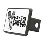 Forks Be With You Rectangular Hitch Cover
