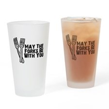Forks Be With You Drinking Glass