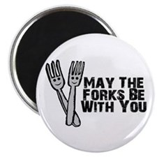 Forks Be With You Magnet