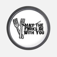 Forks Be With You Wall Clock