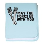 Forks Be With You baby blanket