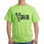 Forks Be With You Green T-Shirt
