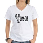 Forks Be With You Women's V-Neck T-Shirt