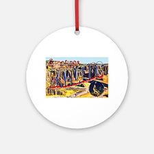 Badlands Greetings Ornament (Round)