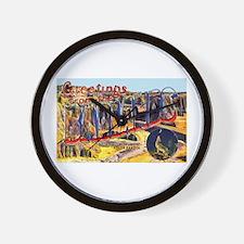 Badlands Greetings Wall Clock
