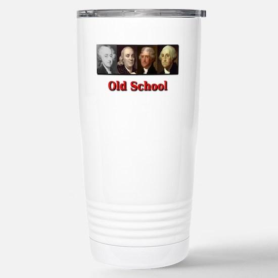 Old School Stainless Steel Travel Mug
