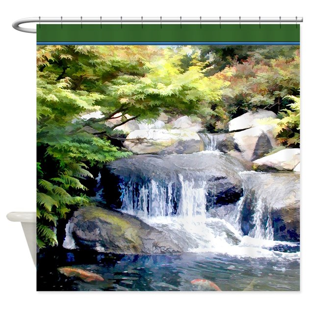 Japanese garden waterfall and koi shower by for Koi pond supply of japan