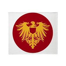 Medieval Griffon Dragon Flight Throw Blanket