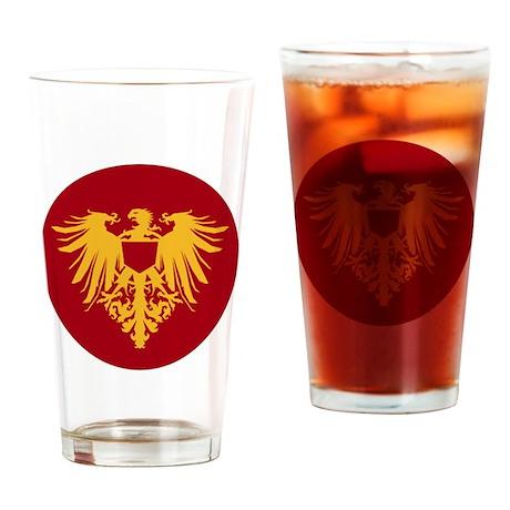 Medieval Griffon Dragon Flight Drinking Glass