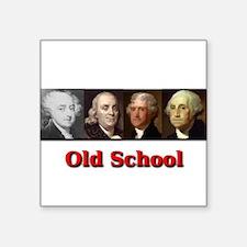 """Old School Square Sticker 3"""" x 3"""""""