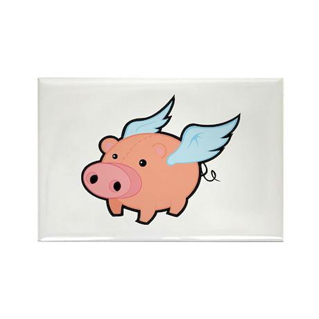 Flying Pig Rectangle Magnet