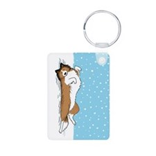 Happy Snow Sheltie Keychains