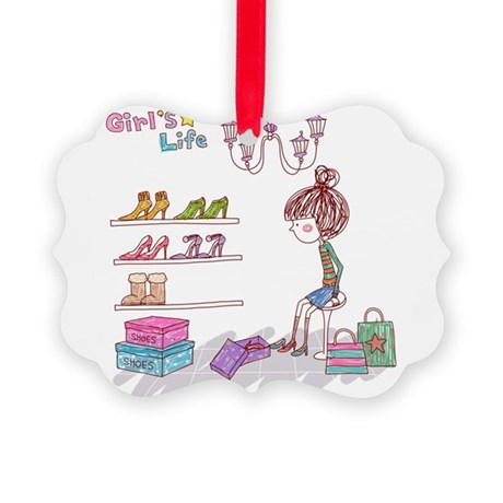 Girly Picture Ornament