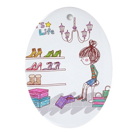 Girly Ornament (Oval)