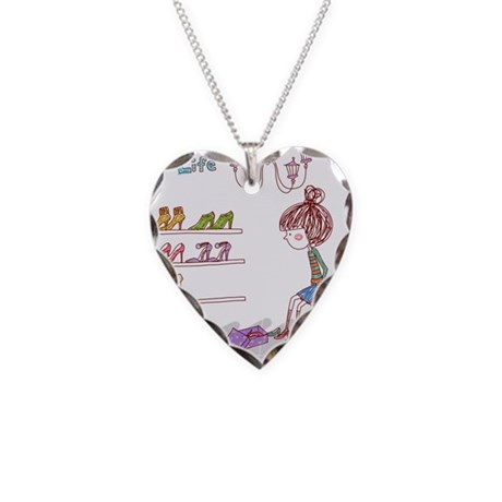 Girly Necklace Heart Charm