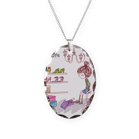 Girly Necklace Oval Charm
