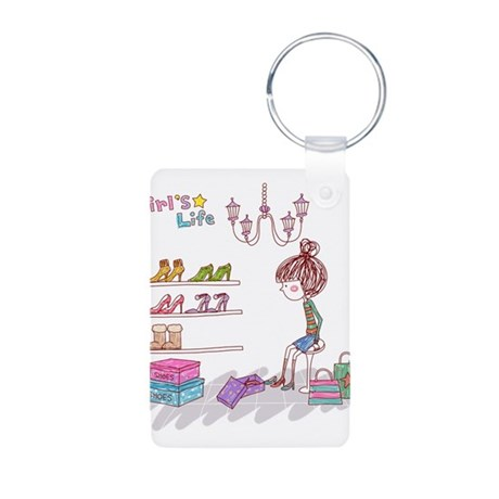 Girly Aluminum Photo Keychain
