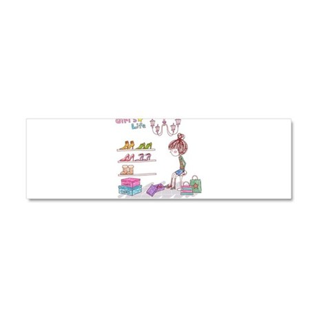 Girly Car Magnet 10 x 3