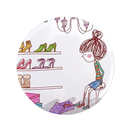 "Girly 3.5"" Button (100 pack)"