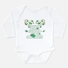 Irish Christening Prayer Long Sleeve Infant Bodysu