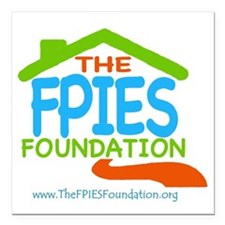 "The FPIES Foundation Square Car Magnet 3"" x 3"