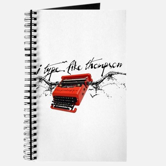 I TYPE LIKE THOMPSON Journal