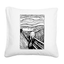 Edvard Munch The Scream Square Canvas Pillow