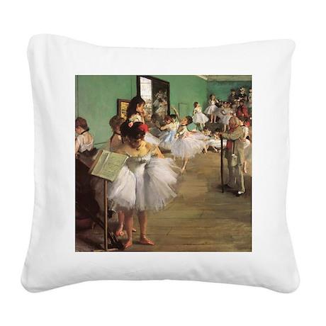 Edgar Degas Dancing Class Square Canvas Pillow