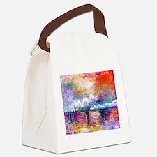 Unique Claude monet art Canvas Lunch Bag