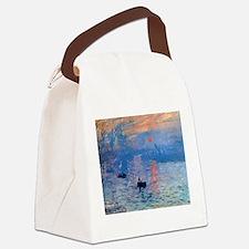 Cute Claude monet art Canvas Lunch Bag