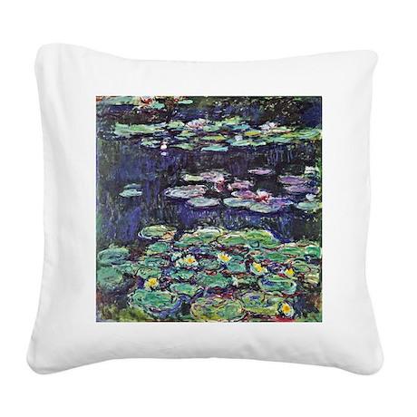 Claude Monet Water Lilies Square Canvas Pillow