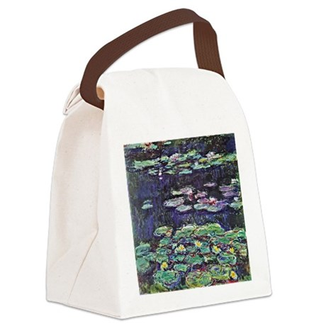 Claude Monet Water Lilies Canvas Lunch Bag