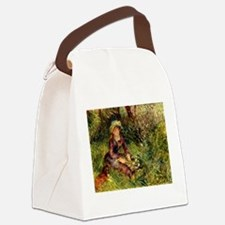 Mrs Renoir with dog Canvas Lunch Bag