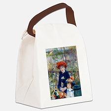 Cute Portrait woman Canvas Lunch Bag