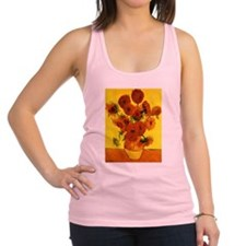 Van Gogh 15 Sunflowers (High Res) Racerback Tank T
