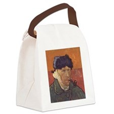 Van Gogh Self Portrait Canvas Lunch Bag