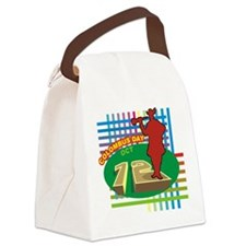Colorful Columbus Day Canvas Lunch Bag