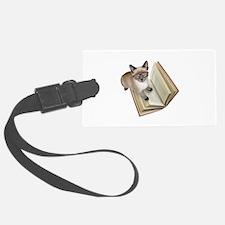 Kitten Book Luggage Tag