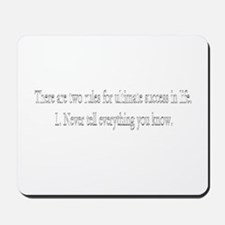 There are two rules  Mousepad