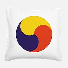 Sam Taegeuk Square Canvas Pillow