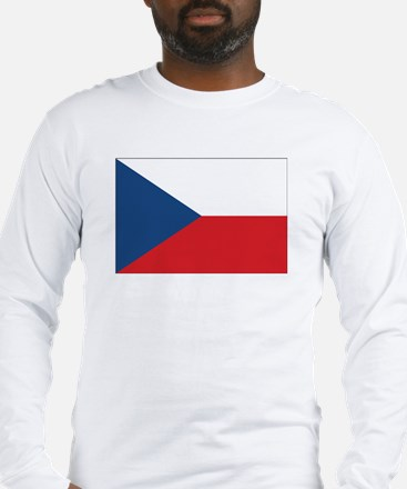 Czech Flag Long Sleeve T-Shirt