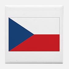 Czech Flag Tile Coaster