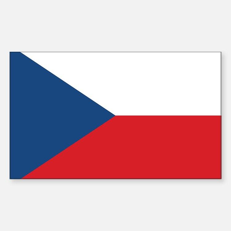 Czech Flag Decal