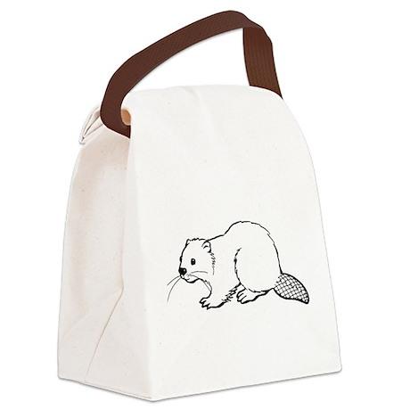 Cute Beaver Canvas Lunch Bag
