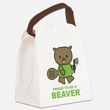 Proud To Be A Beaver Canvas Lunch Bag