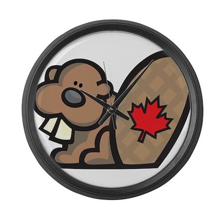 canada beaver large wall clock by esangha